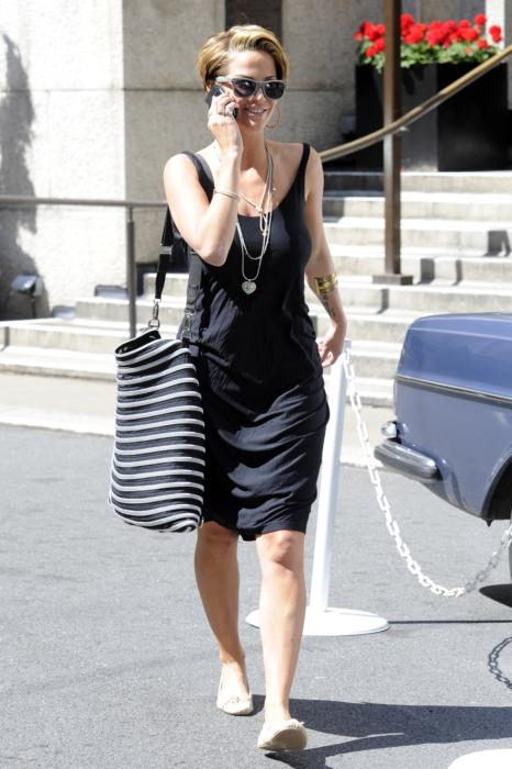 Sarah Harding wearing the Backpack Messenger Bag