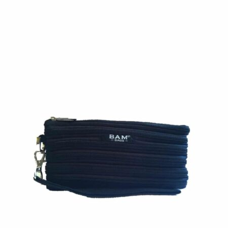 Wristlet Makeup Bag in Black