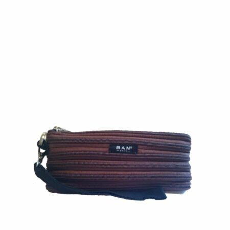 Wristlet Makeup Bag in Brown