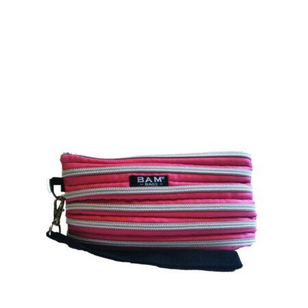 Wristlet Makeup Bag in Hot Pink