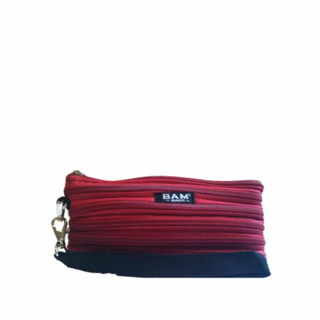 Wristlet Makeup Bag in Red