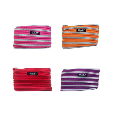 Mini Change Purses in pink, tangerine, red, and plum