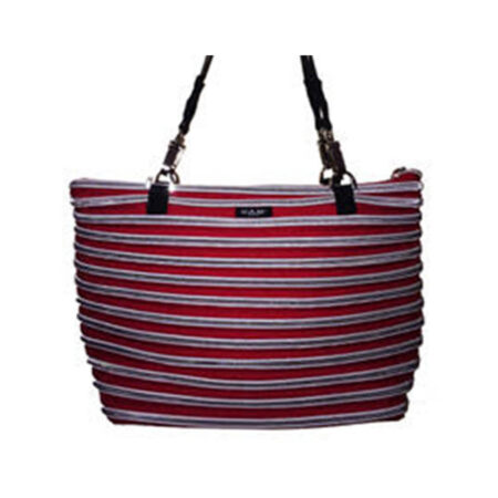Flat Bottom Tote in Red