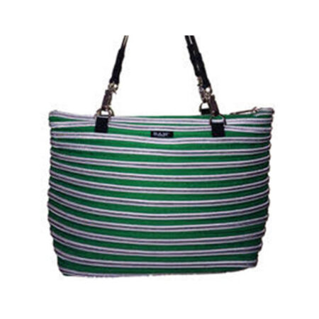 Flat Bottom Tote in Emerald Green