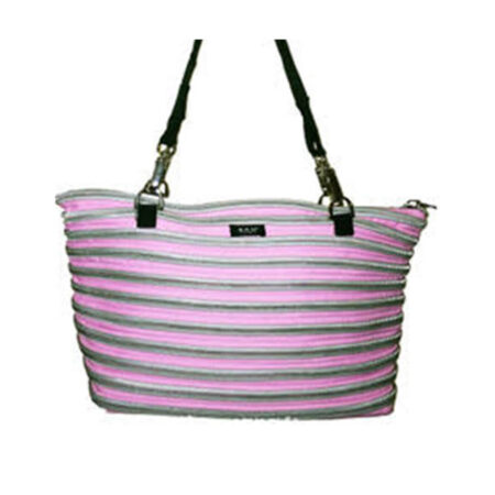 Flat Bottom Tote in Pink