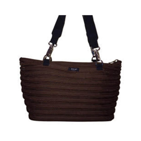 Flat Bottom Tote in Brown