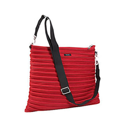 Backpack Messenger Bag in Red Full