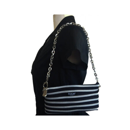 Isabel Bag in Black and Silver on Model
