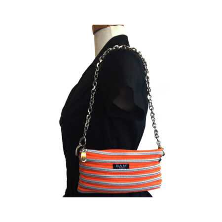 Isabel Bag in Tangerine on Model