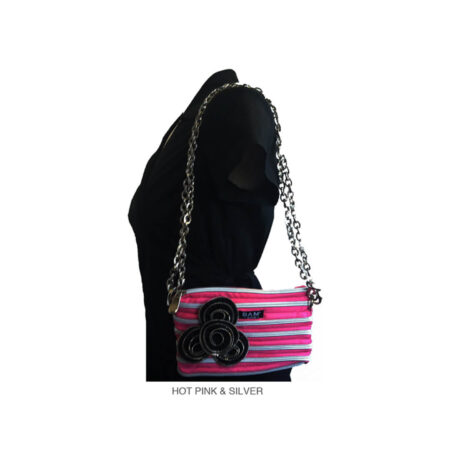 Lily Bag in Hot Pink on Model