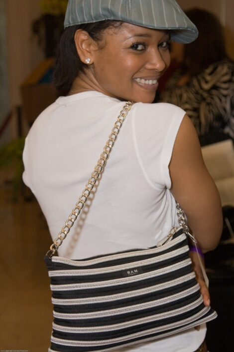Tamala Jones with a Handbag