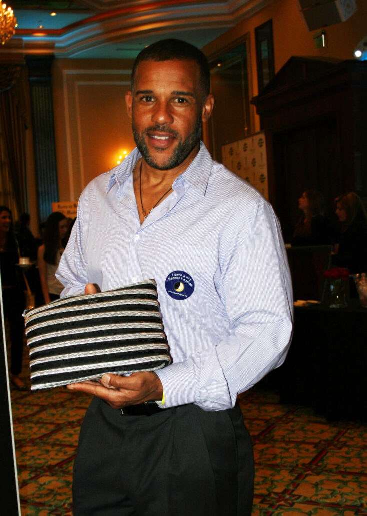 Peter Parros holding the Carryall Pouch
