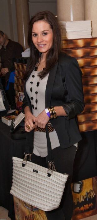 Kara DioGuardi with her Flat Bottom Tote
